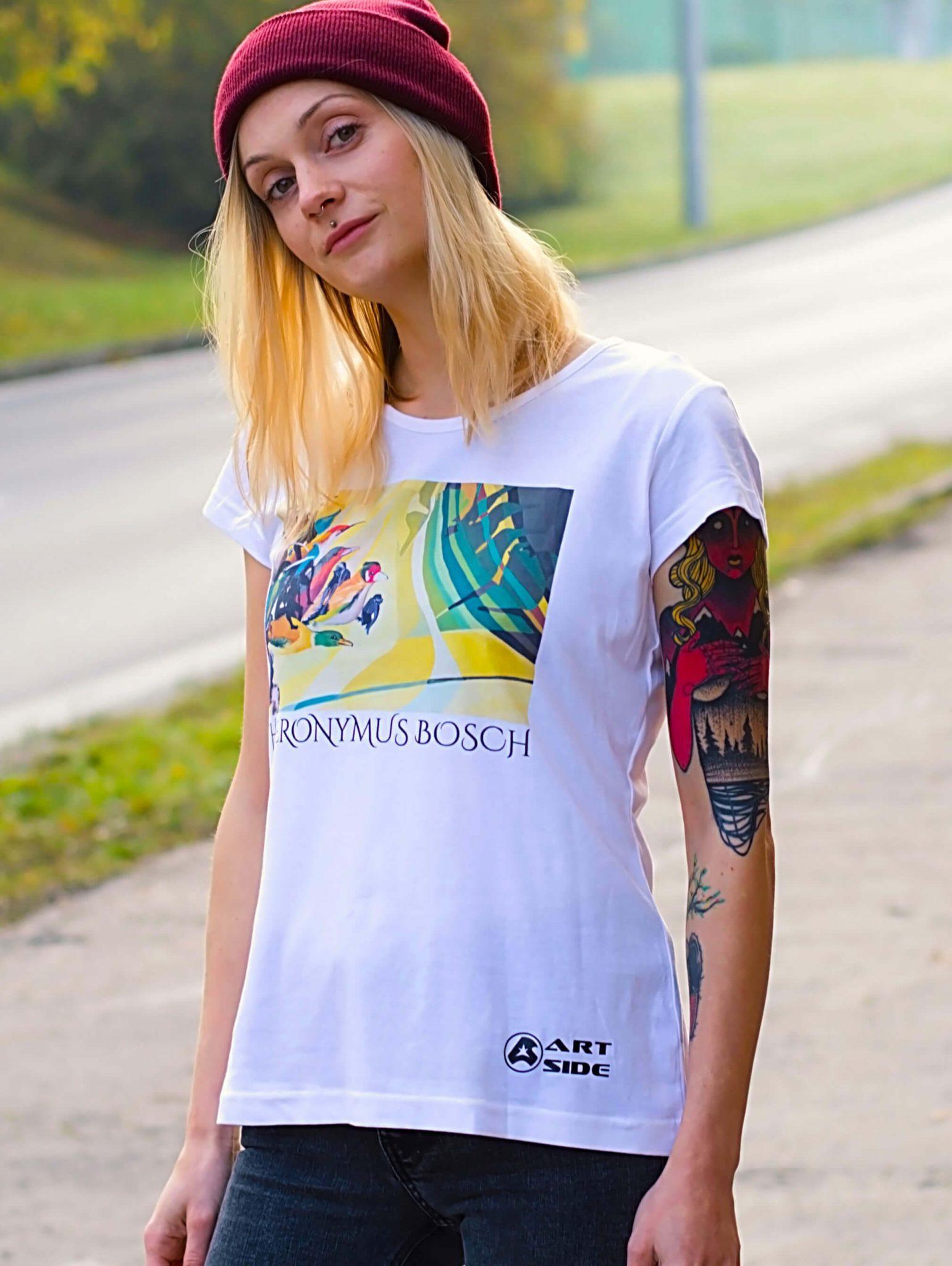 a2b0568c9a44 Dámske tričko Hieronymus Bosch ZÁHRADA POZEMSKÝCH ROZKOŠÍ – biele ...